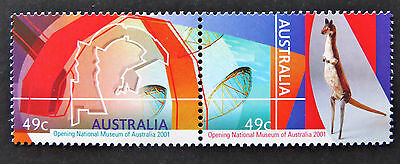 Australian Decimal Stamps: 2001 Opening National Museum of Aust - Set of 2 MNH