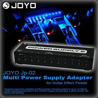 JOYO JP-02 Guitar Pedals Power Adapter Supply 10 Outputs 9V 12V 18V