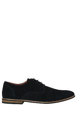 NEW Blaq Wayne Perf Suede Lace Up Navy