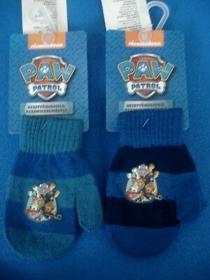 Paw Patrol Boys Chase & Marshall Kids Mittens Gloves Hand Warmers One Size
