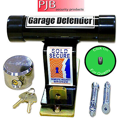Pjb Door Defender For Up And Over Garage Door Security - Complete With Padlock