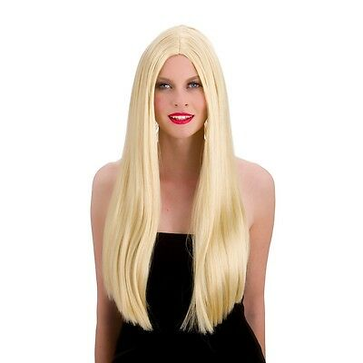 Long Blonde  Straight Wig  with Center parting