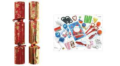 "Red And Gold 12""  Crackers Christmas Special Assorted (Not In A Box)"