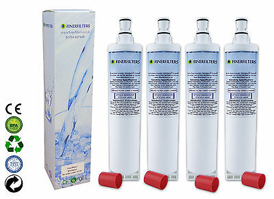 4 x Finerfilters Compatible Whirlpool American Style Fridge Water Filter 4396508