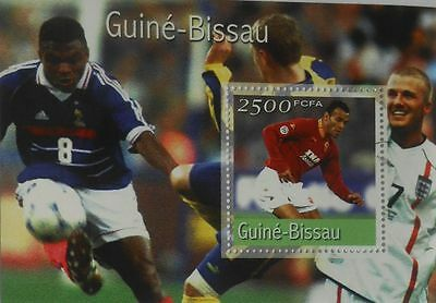Football players soccer Guinea-Bissau s/s Mi. Bl.315 MNH #GB1108c