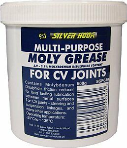 Silverhook Molybdenum Grease Car Repair and Maintenance Lubricant in 500 g Tin