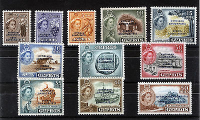 Cyprus 1960 Definitives Sg188/198 Blocks Of 4 Mnh