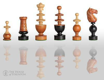 """The French Regence Luxury Chess Set - Pieces Only - 4.4"""" King - Antiqued Boxwood"""