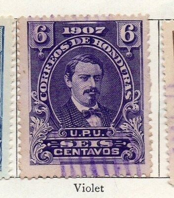 Honduras 1907 Early Issue Fine Used 6c. 098816