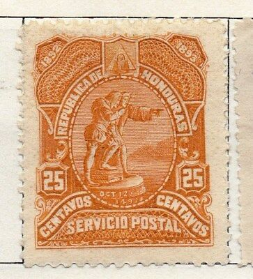 Honduras 1892 Early Issue Fine Mint Hinged 25c. 098831