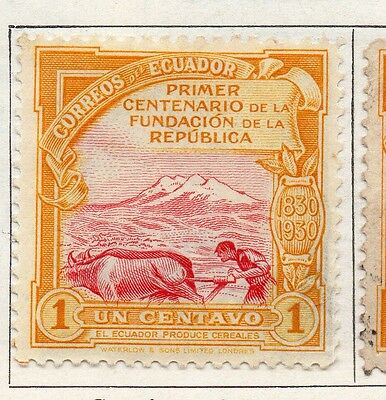 Ecuador 1930 Early Issue Fine Mint Hinged 1c. 099146
