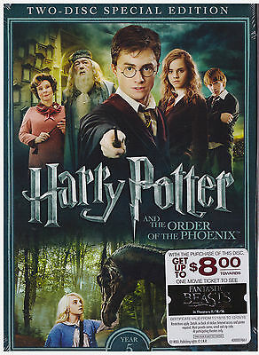 HARRY POTTER 5 ORDER OF THE PHOENIX (DVD, 2016, Movie Cash) NEW WITH SLEEVE