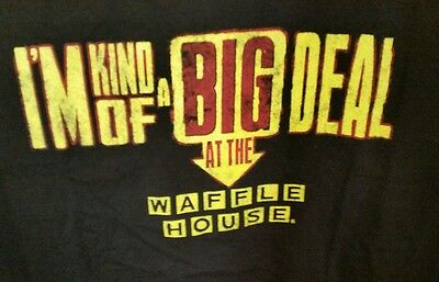 Waffle House T-Shirt~I'm Kind of a Big Deal at the WH~XXL~2XL~NEW~NWOT~Black~