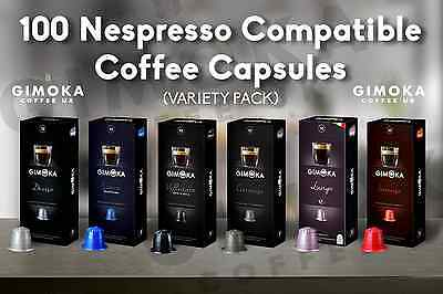 100 Nespresso Compatible Coffee Capsules Pods - Choose Your Blend