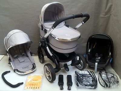 Icandy Peach  Silver Mint Travel System