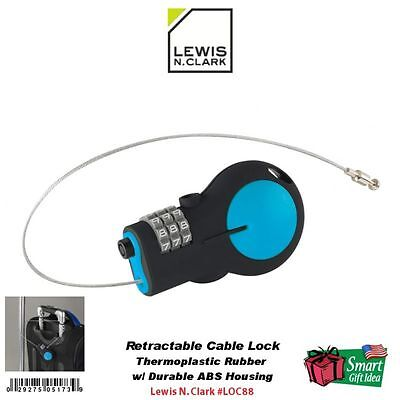 Lewis N. Clark Travel Collection Retractable Cable Lock #LOC88