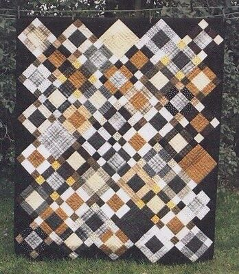 "Pandora - easy pieced quilt PATTERN for 2.5"" strips - Whirligig"