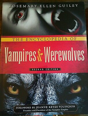 The Encyclopedia of Vampires & Werewolves *Rosemary Ellen Guiley* Softcover LOOK