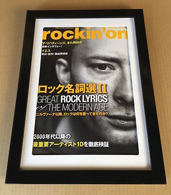 2014 Thom Yorke Radiohead photo JAPAN magazine cover page FRAMED MINT r6r