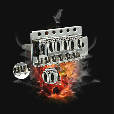 New 1 Set 6 Strings Chrome Guitar Tremolo Bridge With Bar For Fender Strat
