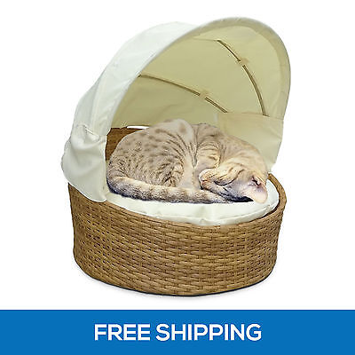 NEW PE Wicker Indoor Outdoor Pet Bed Cat Washable Rattan Dog Puppy Mat Cushion