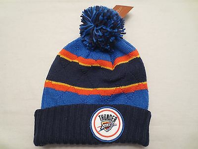 huge selection of ddded c420a Mitchell   Ness Nba High 5 Pom Knit Beanie Hat Cap Oklahoma City Thunder