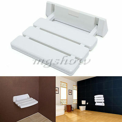 Wall Mounted Folding Adjustable Shower Seat Bathroom Stool with Mobility Aid