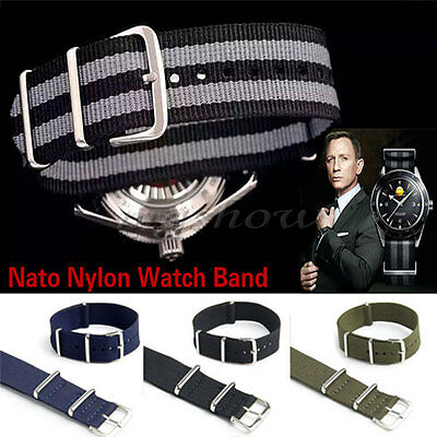 18/20/22mm Nato Watch Strap Band Military Army Nylon Canvas Divers Mens Buckle