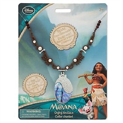 MOANA~Deluxe~SINGING~Necklace~Pendant~Costume~NWT~Disney Store~HOW FAR I'LL GO