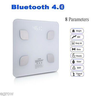 Smart Weight Body Fat Scale Digital BMI Bluetooth iOS & Android Wireless 180