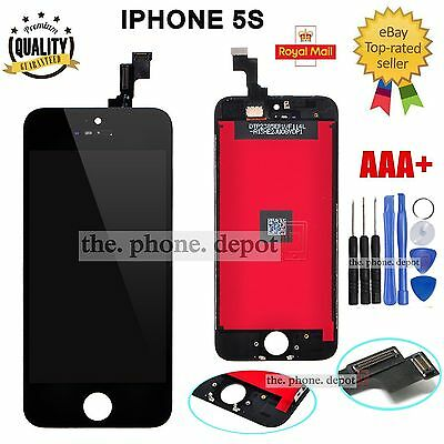 For Black iPhone 5S LCD Screen Replacement Touch Display Digitizer Glass