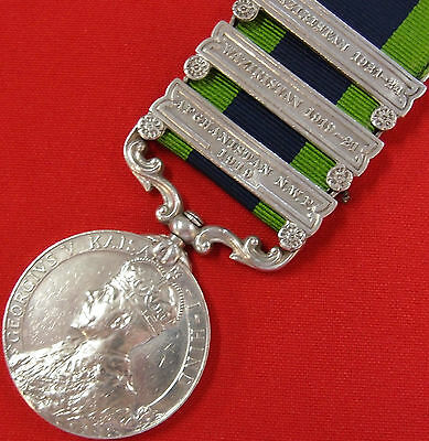 Post Ww1 British Army 1908-1935 India General Service Medal P.w.o. Grenadiers