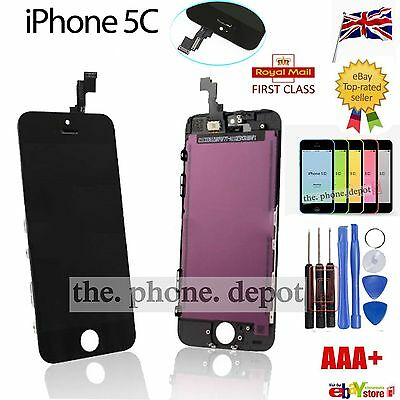 For Black iPhone 5C LCD Screen Replacement Touch Display Digitizer Glass Lens UK