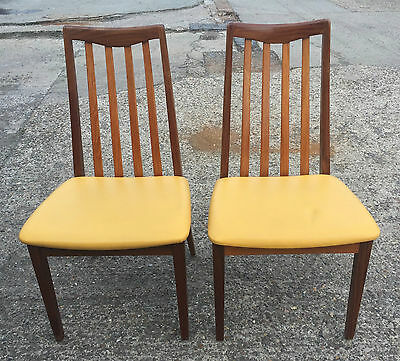 2 x g plan chairs 70s 1970s retro vintage original reupholstered faux leather