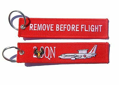 RAAF 2 Squadron Wedgetail Remove Before Flight Key Ring Luggage Tag