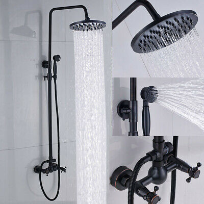 POIQIHY Stainless Steel Shower Panel Tower Rain W/Massage System Body Jet Tap