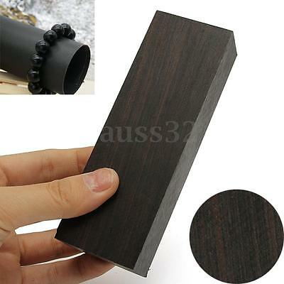 12x4x2.5cm DIY Black Ebony Lumber Gabon Handle Blank For Musical Instruments