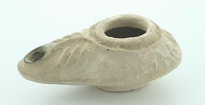 ARC P24 Ancient Byzantine Oil Lamp c600AD Light Of Christ rare inscription Bible