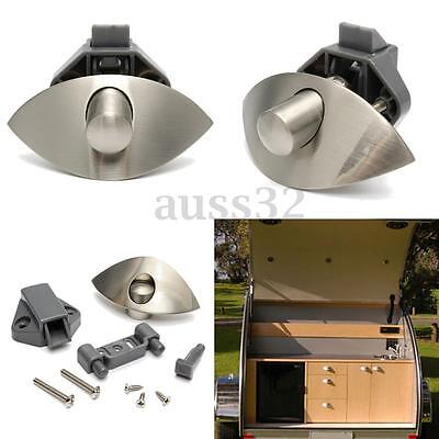 Push Lock Latch Knob Door Catch Caravan Motorhome Boat Drawer Cupboard Lock