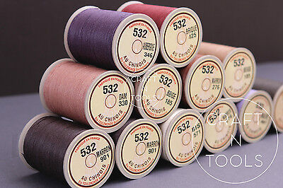 """New Sajou Fil au Chinois """"Lin Cable"""" Waxed Linen Thread #532. Leather Work Cord"""