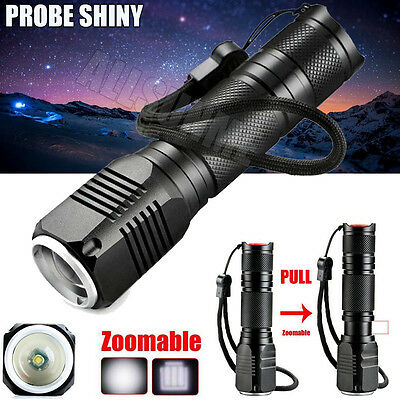 Zoomable 3 Modes 4000LM  XML Q5 LED 18650/AAA Flashlight Torch Lamp Light US