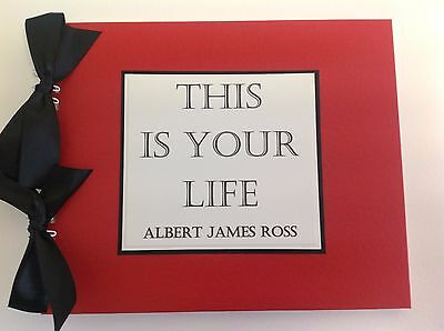 """Personalised THIS IS YOUR LIFE 10"""" x 8""""  Photo Book -Scrapbook - Memories Book"""