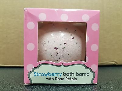 Strawberry Bath Bomb With Rose Petal Extracts