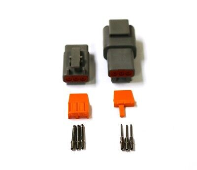 Deutsch DTM 3 Pin Connector Kit 20 GA Solid Contacts