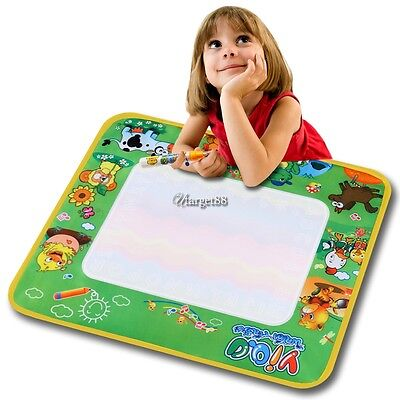 Drawing Mat Polyester Writing Cloth Multicolor Boy Girl Toy UTAR