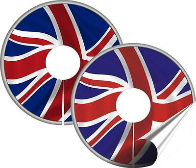 Wheelchair Spoke Guard Stickers, Wheel Cover protector, GB Flag Design Mobility