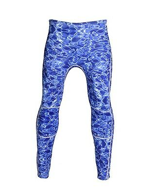 Blue 3mm Camouflage Neoprene Wetsuit Dive Pants Camo Spearfishing Skin Diving