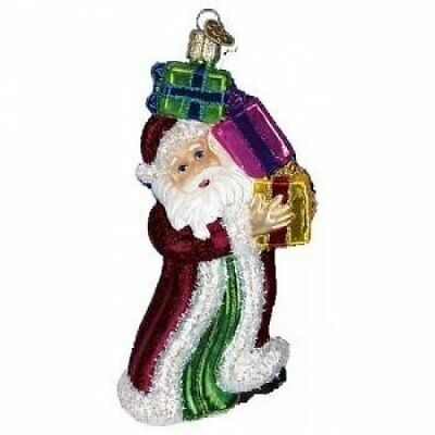 "Old World Christmas ""Boxes of Joy Santa"" Glass Ornament - NWT"