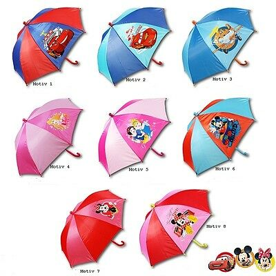 Kinder Regenschirm Ø65cm 8-fach sortiert Disney Mickey Mouse, Princess, Cars
