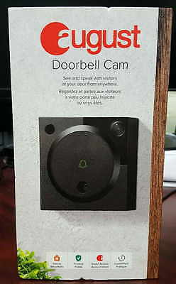 Brand New Sealed August Security Door bell Cam WiFi with Audio Dark Grey Color